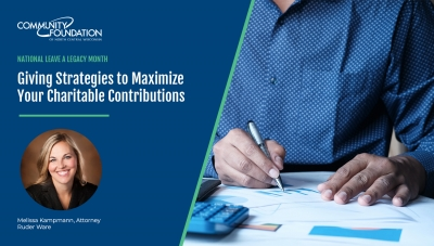 Maximize Charitable Contributions